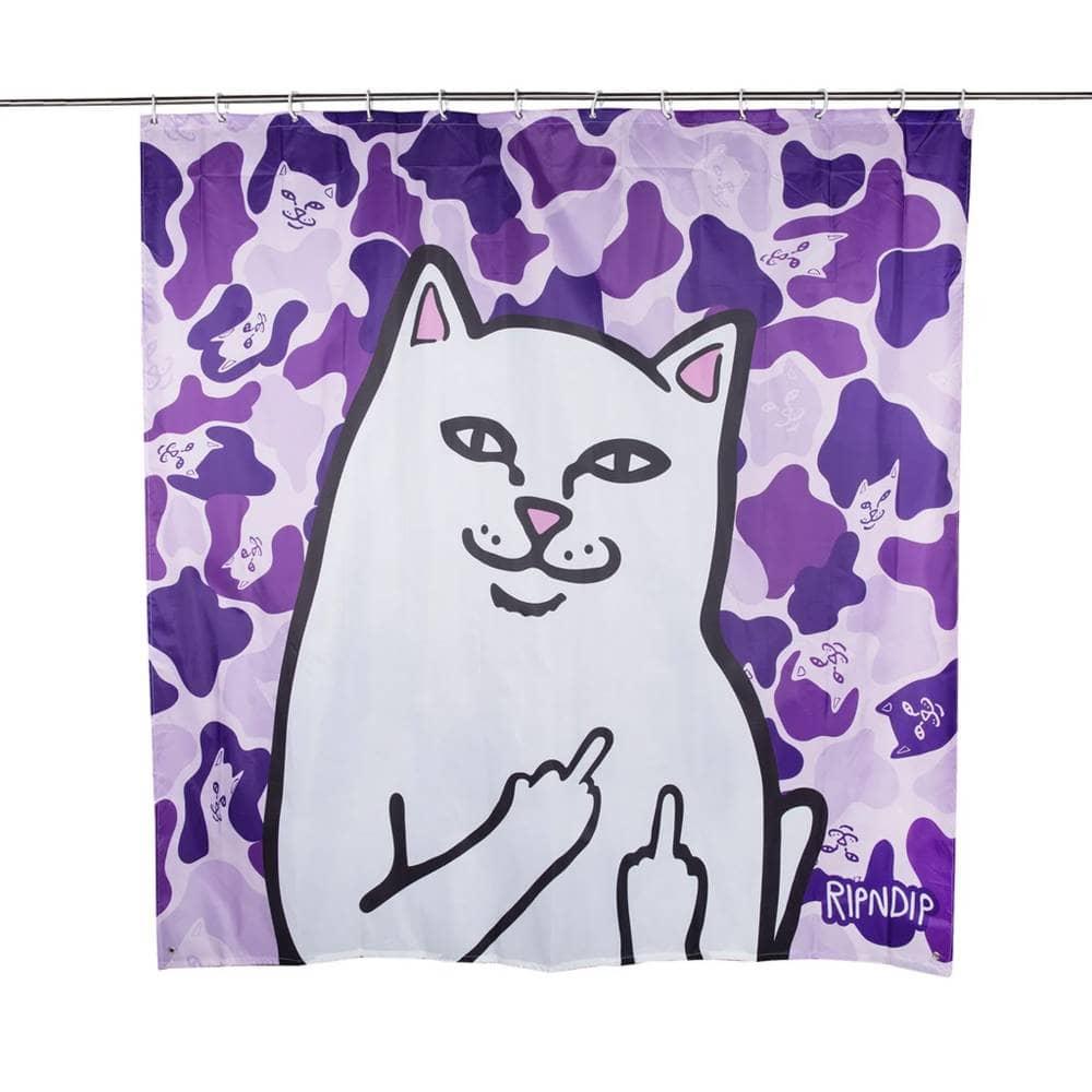rip n dip lord nermal shower curtain purple camo