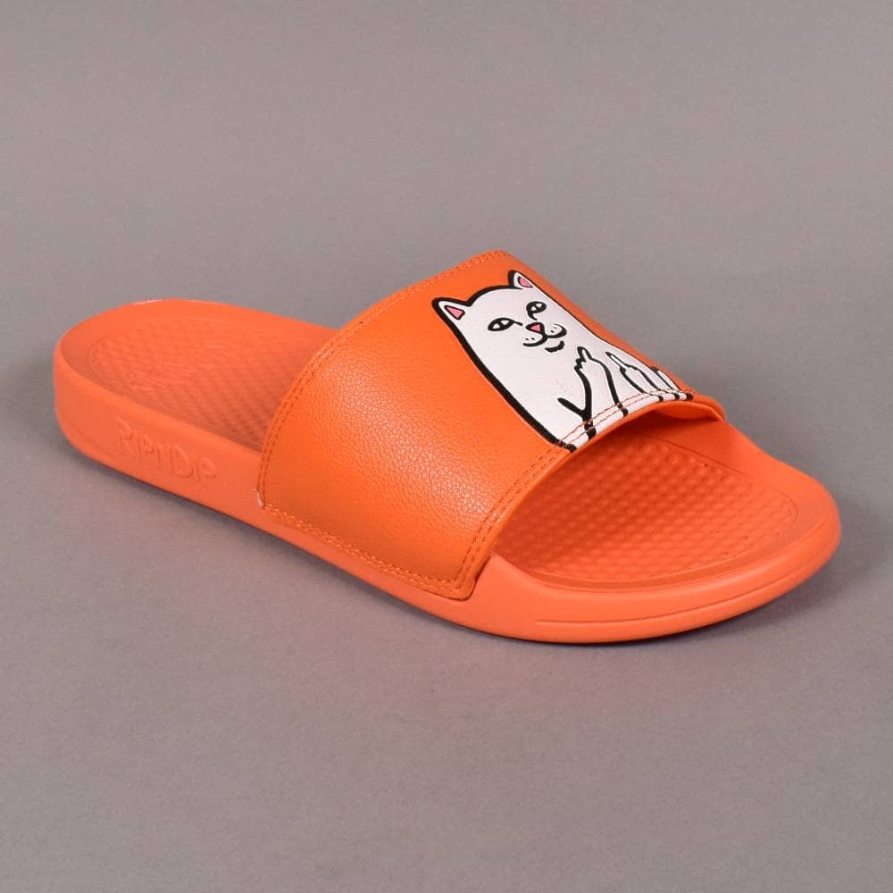 24d87818577 Rip N Dip Lord Nermal Slides - Safety Orange - SKATE SHOES from ...