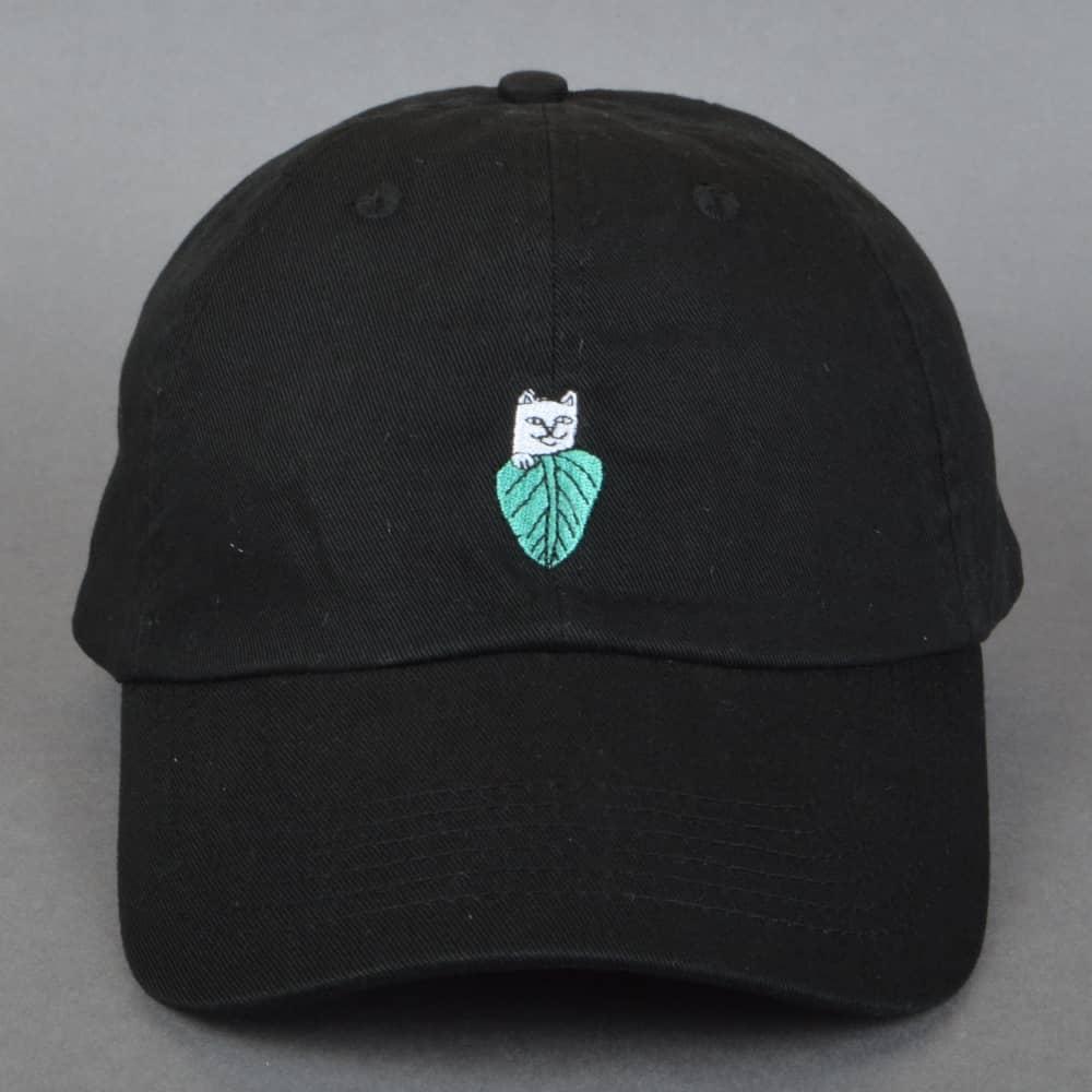 Rip N Dip Nermal Leaf Dad Cap - Black - SKATE CLOTHING from Native ... 38f6ce0c0176