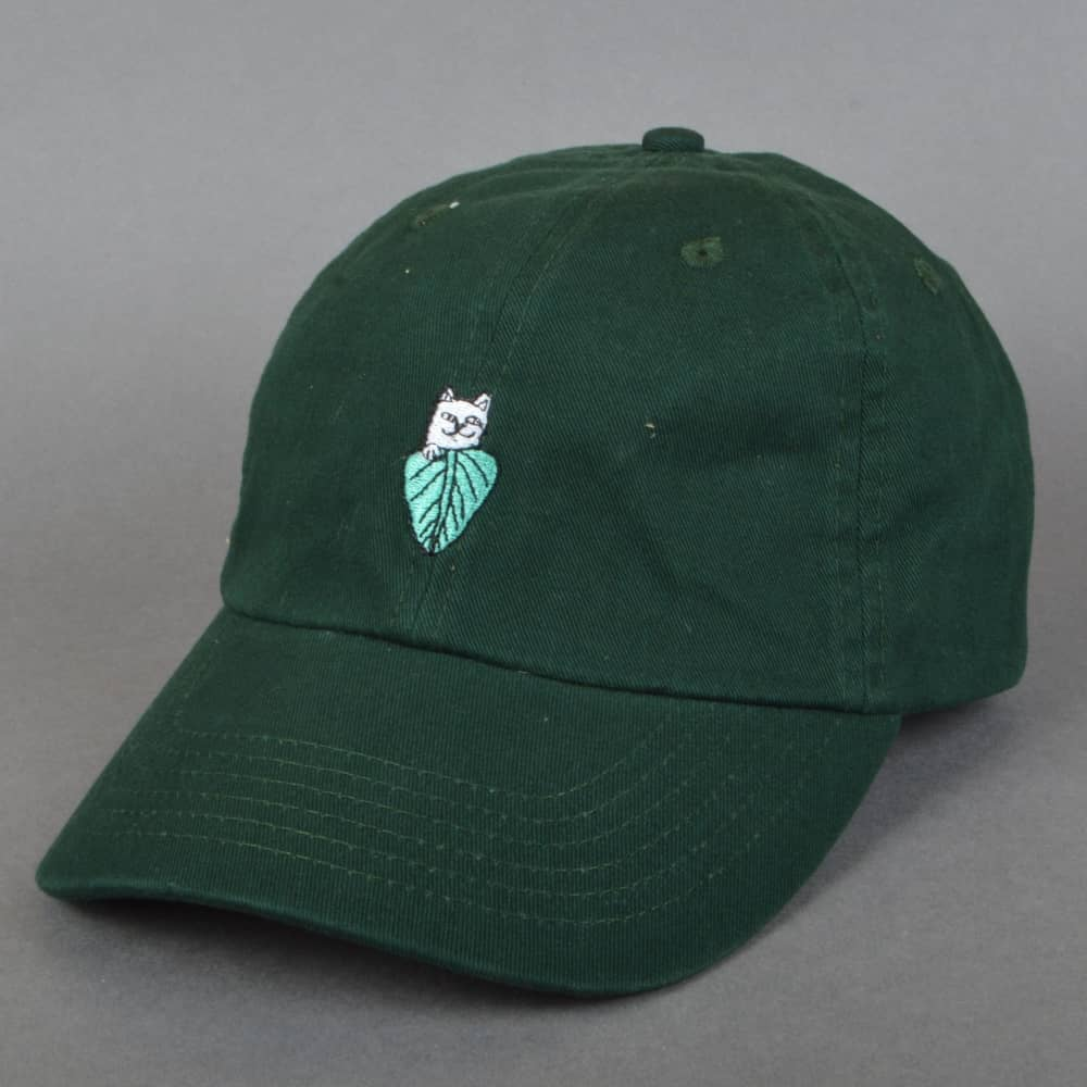 f4174a7d3bc7a Rip N Dip Nermal Leaf Dad Cap - Forest Green - SKATE CLOTHING from ...