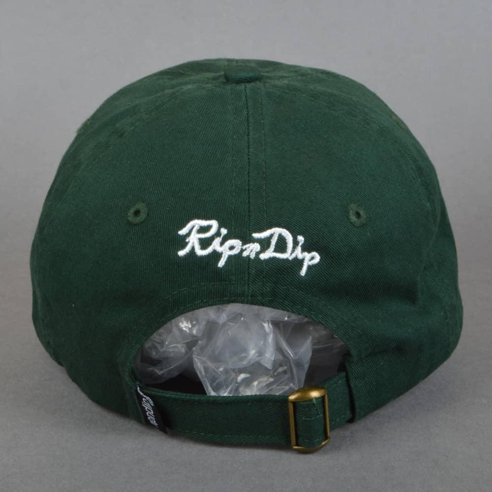 58b80db9c03ea Rip N Dip Nermal Leaf Dad Cap - Forest Green - SKATE CLOTHING from ...