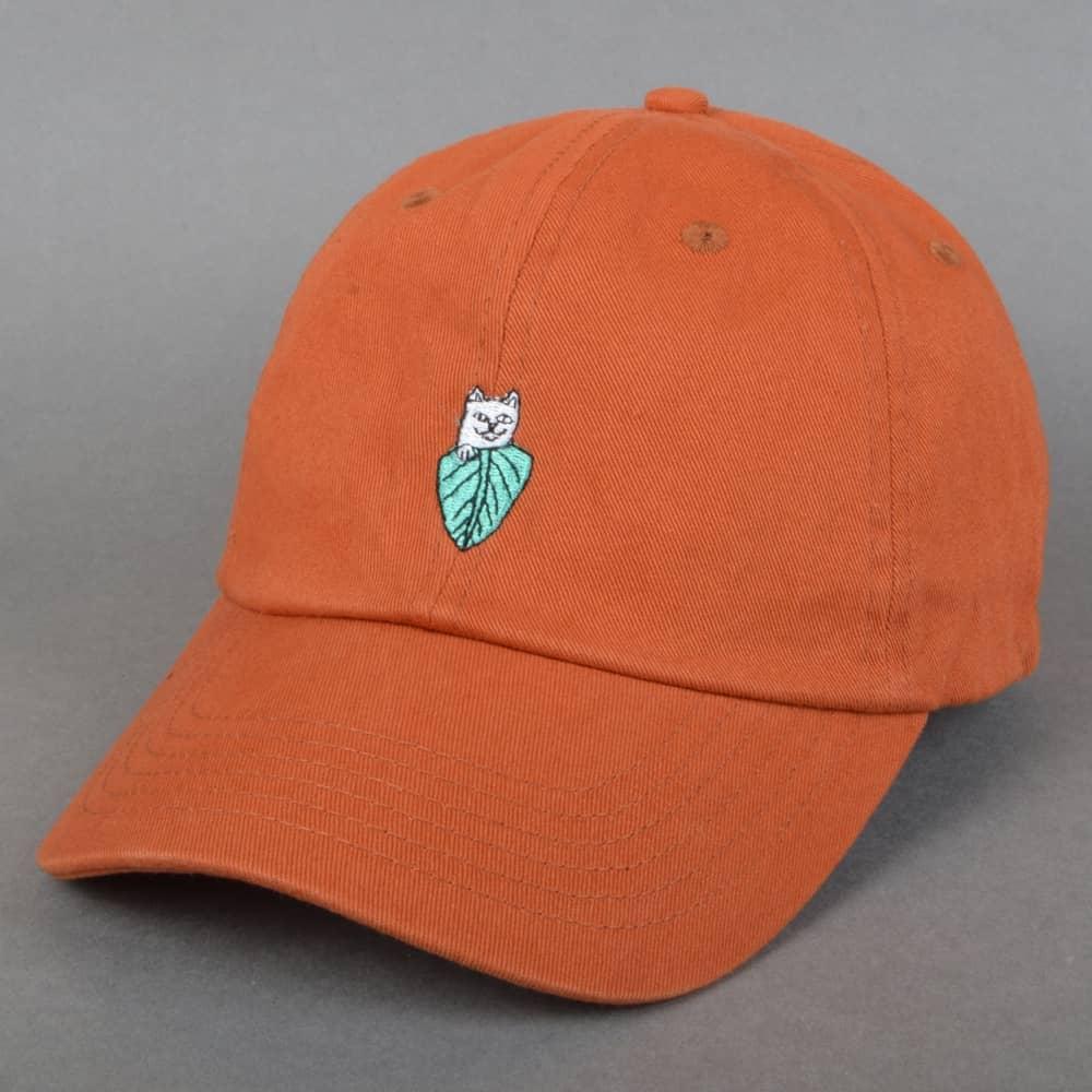 132cbc5cc9a Rip N Dip Nermal Leaf Dad Cap - Texas Orange - SKATE CLOTHING from ...