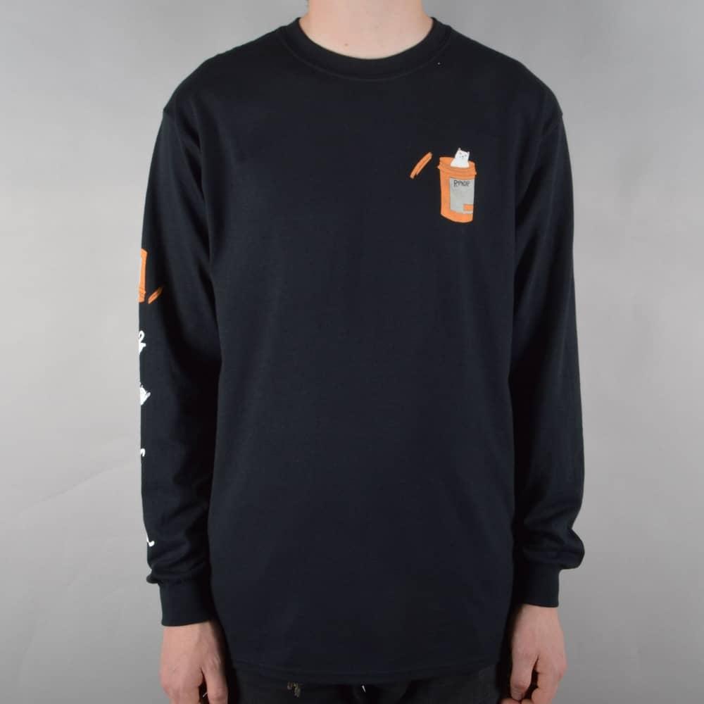 62fd510b061a Rip N Dip Nermal Pills Longsleeve T-Shirt - Black - SKATE CLOTHING ...