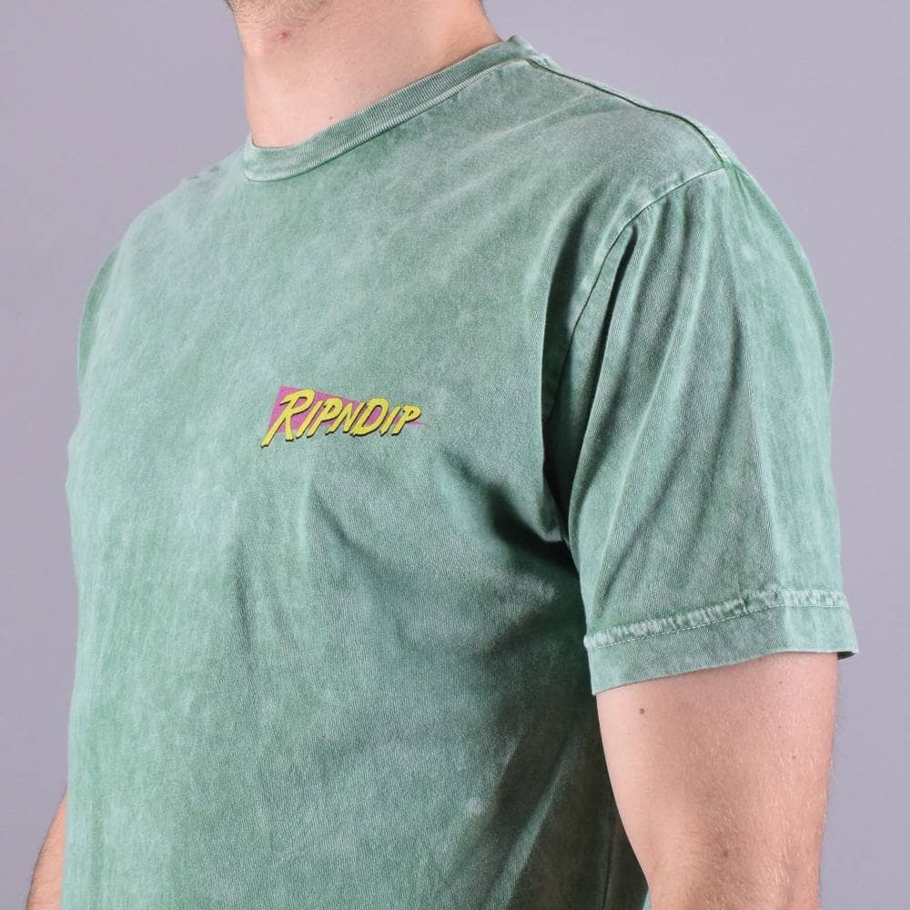 green vintage wash RIPNDIP T-Shirt Purple Haze