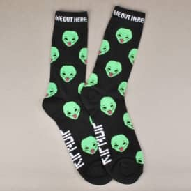 Rip N Dip Rip N' Dip We Out Here Socks - Black