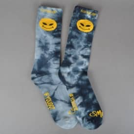 Rip N Dip Smile Alien Socks - Navy