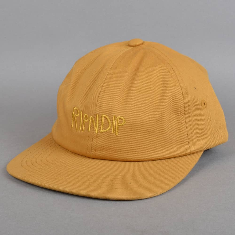 RIPNDIP Tonal Logo 6 Panel Cap In Yellow - Yellow Ripndip C9h1SYzQ