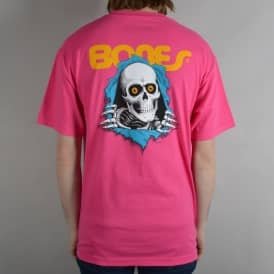 Ripper Skate T-Shirt - Hot Pink