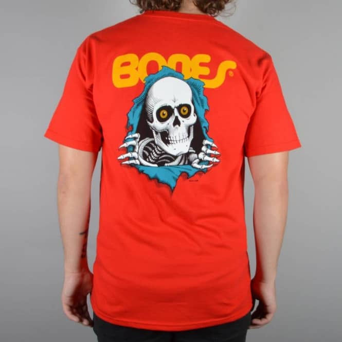 ef403a19e Powell Peralta Ripper Skate T-Shirt - Red - SKATE CLOTHING from ...