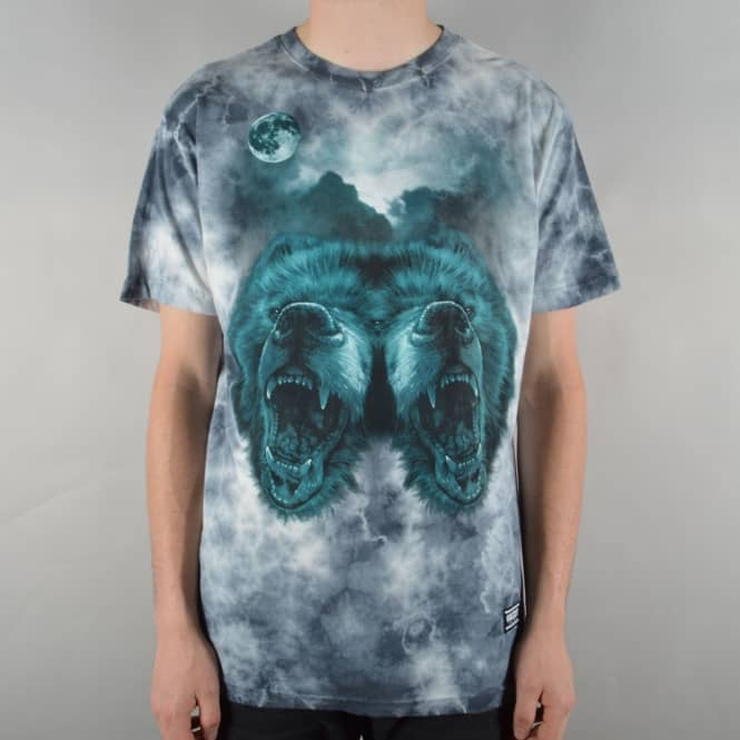 Grizzly Griptape Roar At The Moon Skate T-Shirt - Crystal Wash