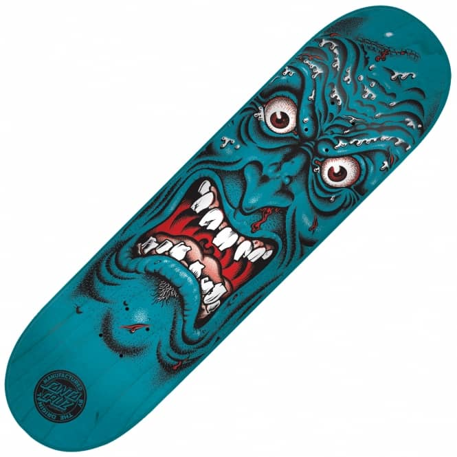 Santa Cruz Skateboards Rob Face Blue Skateboard Deck 8.0
