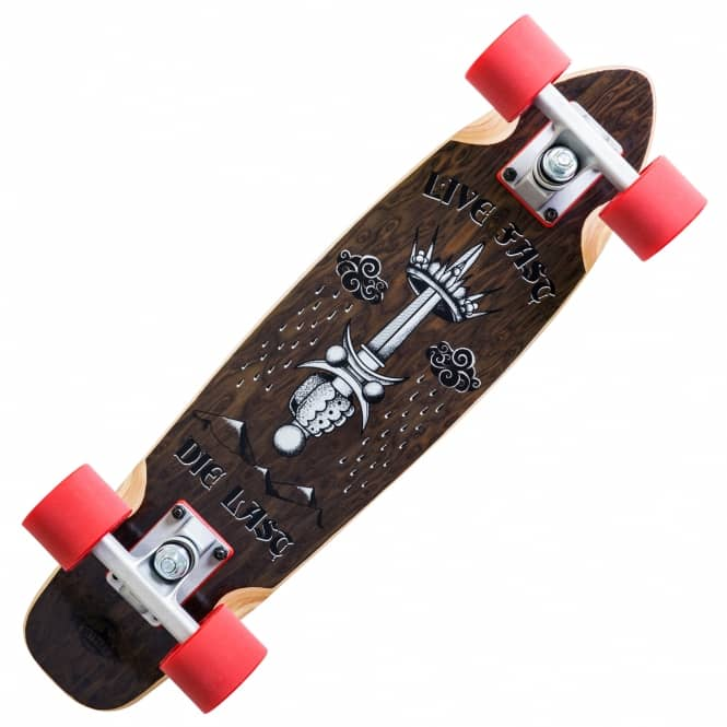 D Street Skateboards Rose Live Fast Wooden Cruiser Skateboard 6.0