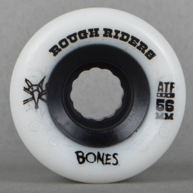 Bones Wheels Rough Rider ATF White Skateboard Wheels 56mm
