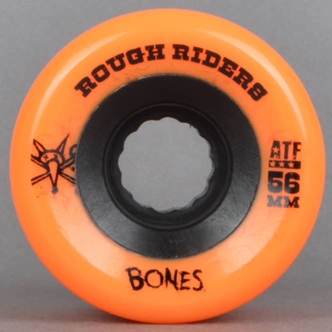 Bones Wheels Rough Riders ATF Orange 80A Skateboard Wheels 56mm
