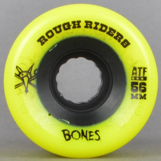 Bones Wheels Rough Riders ATF Yellow 80A Skateboard Wheels 56mm