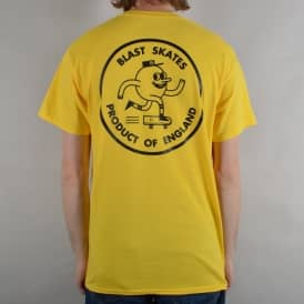 Round Logo Skate T-Shirt - Yellow