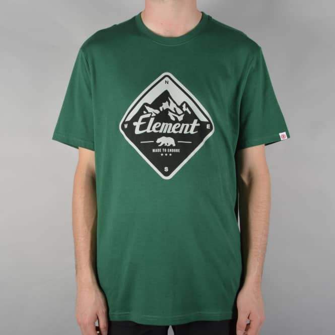 Element Skateboards Route T-Shirt - Hunter Green