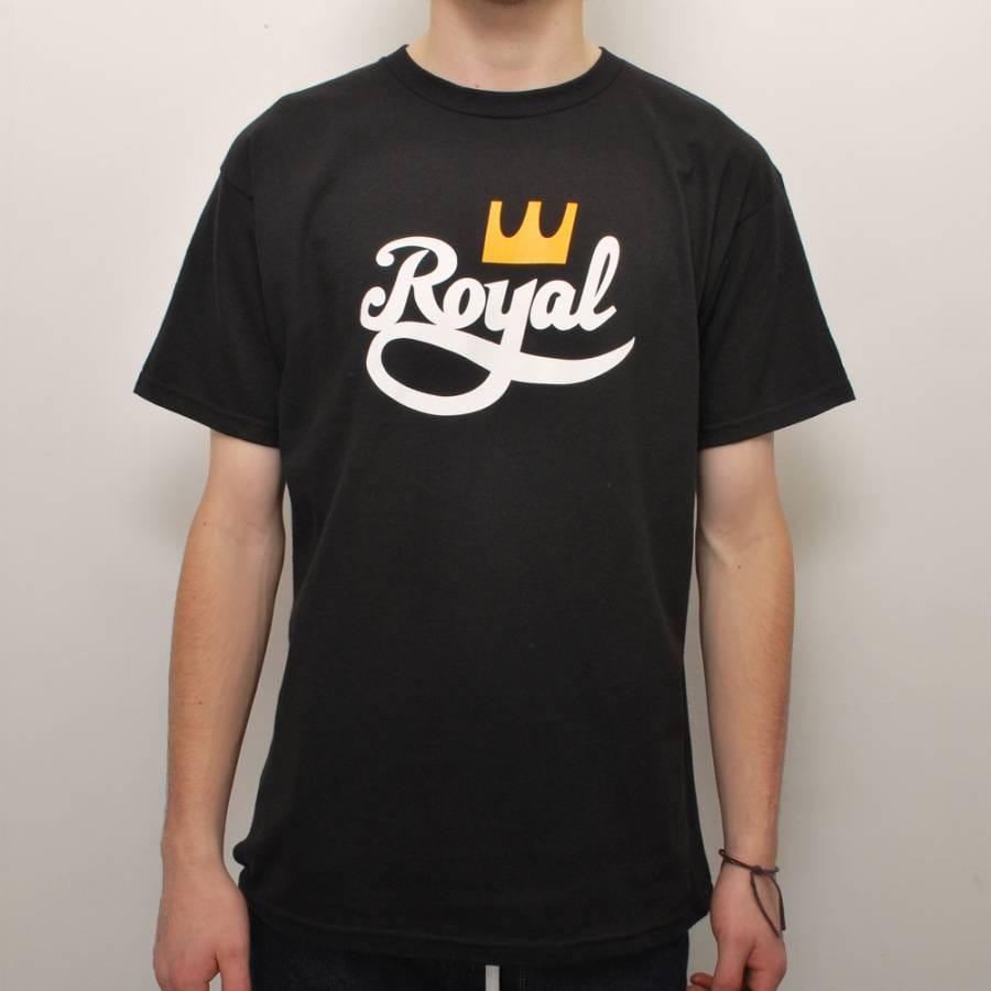 royal trucks royal 2 tone skate t shirt black royal