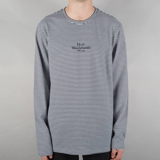 HUF Royale Long Sleeve Striped Shirt - White/Black