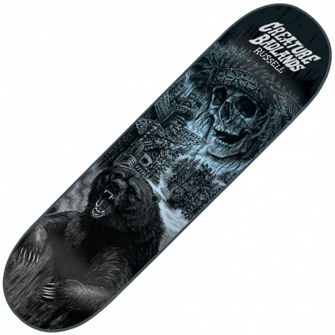 Creature Skateboards Russell Back To The Badlands Skateboard Deck 8.5
