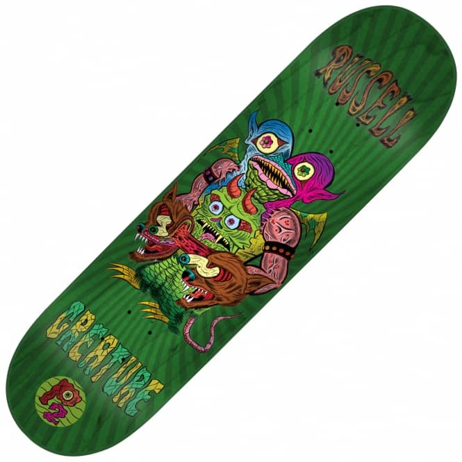 Creature Skateboards Russell Weirdos P2 Skateboard Deck 8.375
