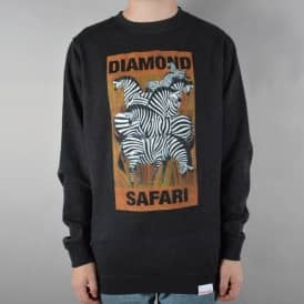 Safari Crewneck Sweater - Charcoal Heather