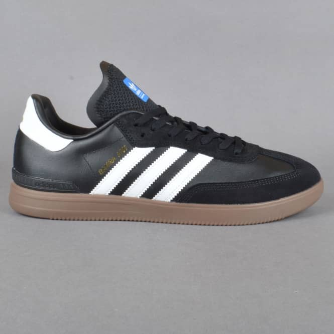 Adidas Skateboarding Samba ADV Skate Shoes - Core Black/Footwear White/Gum 5