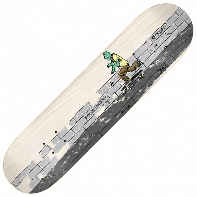 Krooked Skateboards Sandoval Sidewalkend Skateboard Deck 8.38
