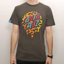 Santa Cruz Skateboards Santa Cruz Leopardskin Dot Skate T-Shirt - Vintage Black