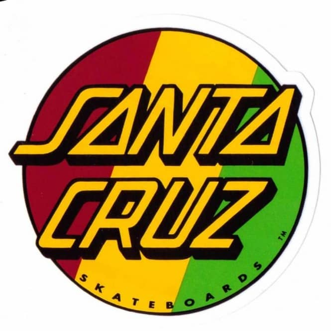 Santa cruz rasta dot skateboard sticker