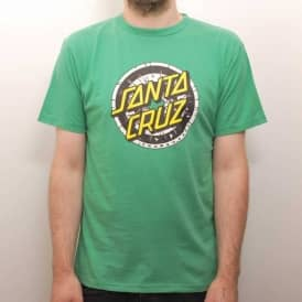 Santa Cruz Skateboards Santa Cruz Rob Dot Skate T-Shirt - Irish Green