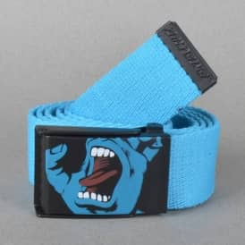 Santa Cruz Screaming Hand Web Belt - Blue