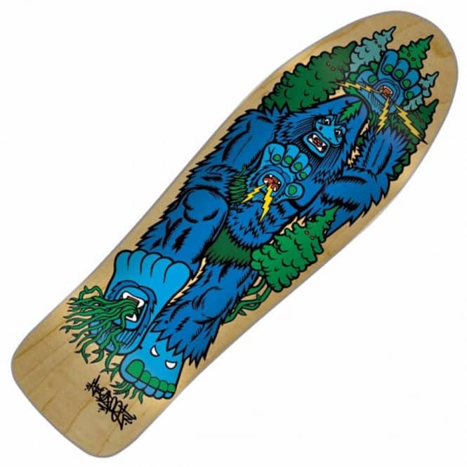 Santa Cruz Skateboards Bigfoot Hand Skateboard Deck 10''
