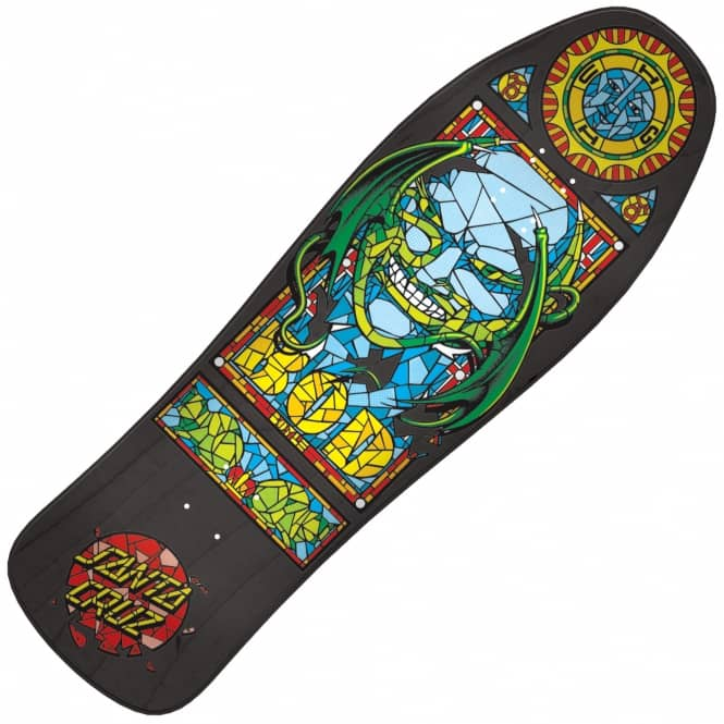 Santa Cruz Skateboards Bod Boyle Stained Glass Black Reissue Skateboard Deck 10.0