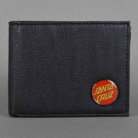 Santa Cruz Skateboards Classic Badge Wallet - Black