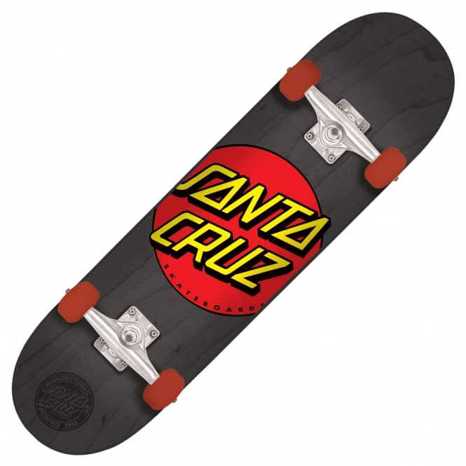 Santa Cruz Skateboards Classic Dot Black Complete Skateboard 8.2