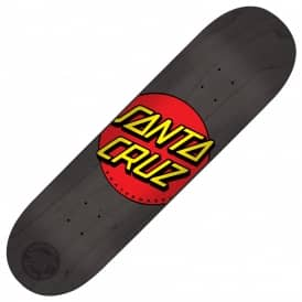Santa Cruz Skateboards Classic Dot Black Skateboard Deck 8.25""