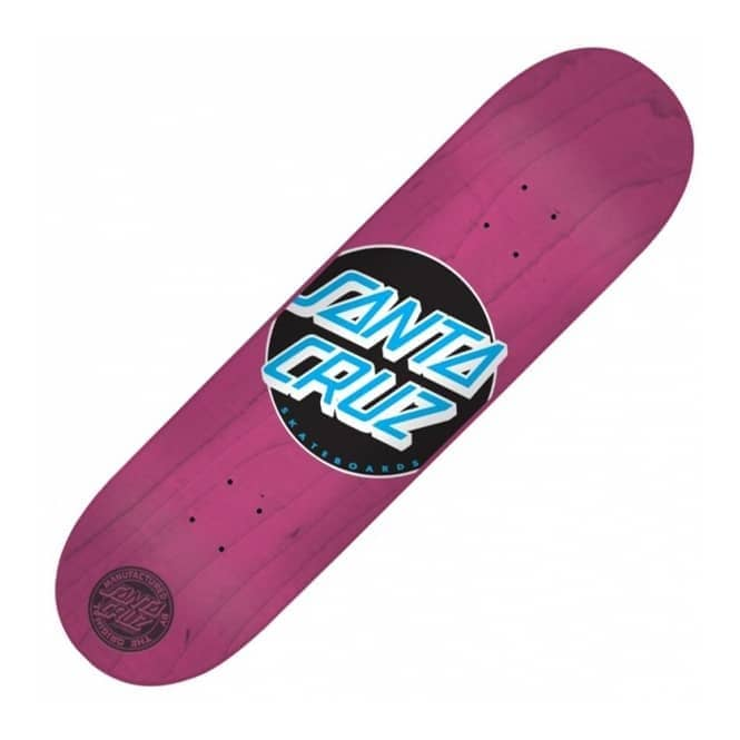 Santa Cruz Skateboards Classic Dot Pink Skateboard Deck 8.0