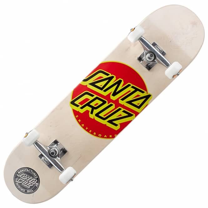 Santa Cruz Skateboards Classic Dot White Complete Skateboard 7.7