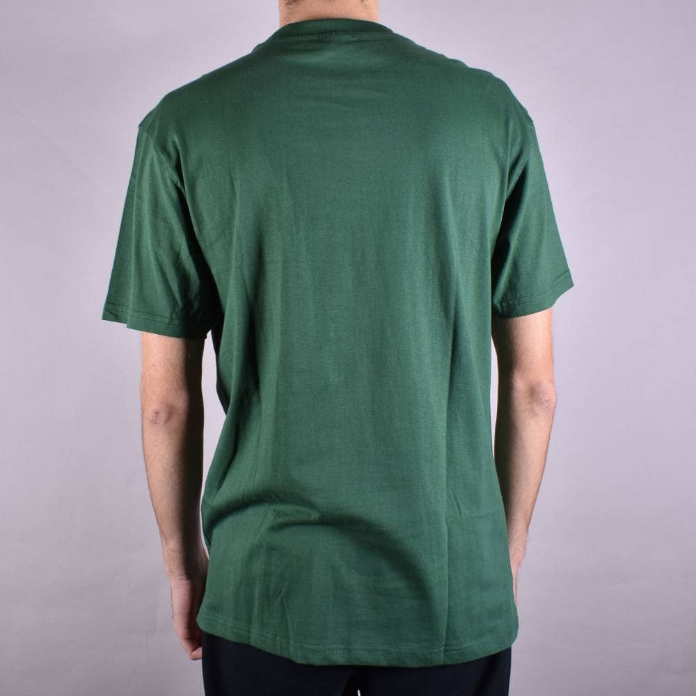 9a2ea343ec6 Santa Cruz Skateboards Classic Hand Skate T-Shirt - Forest Green ...