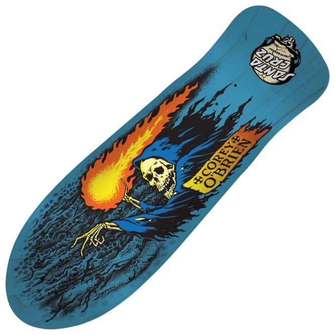 Santa Cruz Skateboards Corey O'Brien Reaper Blue Reissue Skateboard Deck 9.85