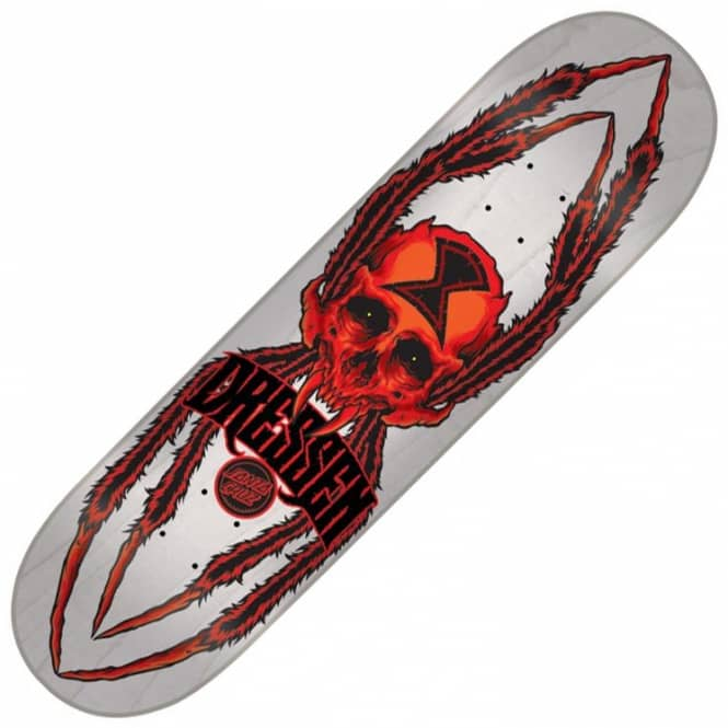 Santa Cruz Skateboards Dressen Widow Skull Skateboard Deck 8.6