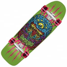 "Santa Cruz Skateboards Freak 80s Complete Cruiser Skateboard 9.99"" x 32.3"""