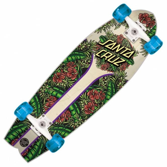 Santa Cruz Skateboards Island Dot Land Shark Cruzer Complete Skateboard - 8.8