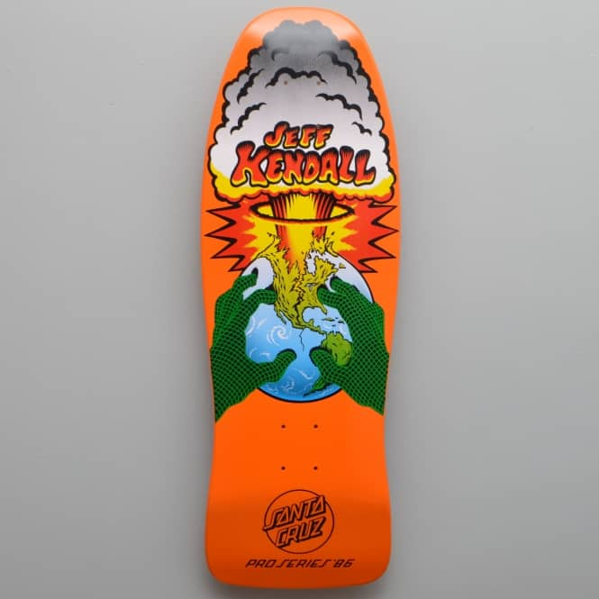 Santa Cruz Skateboards Kendall End Of The World Reissue Fluorescent Orange Skateboard Deck 10.0