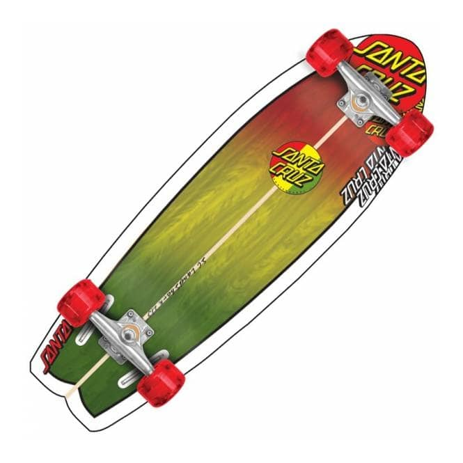 Santa Cruz Skateboards Land Shark Classic Rasta Complete Cruiser Skateboard