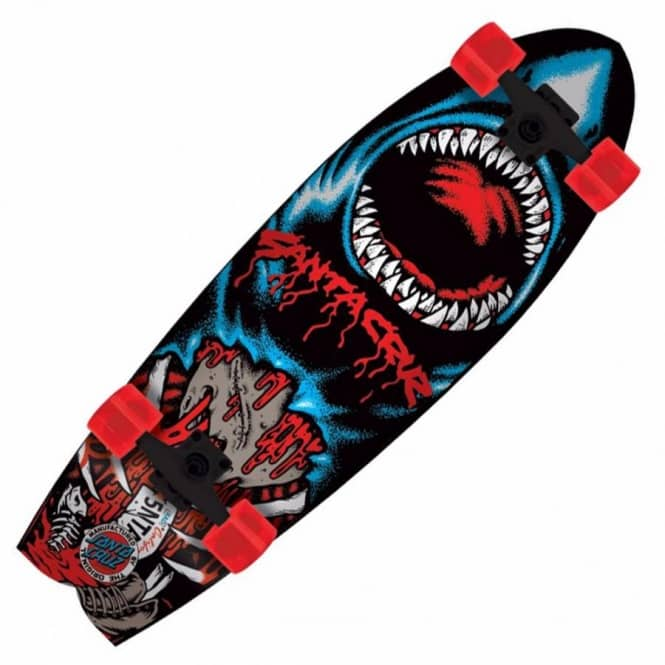 Santa Cruz Skateboards Land Shark Retro Shark Complete Cruzer Skateboards