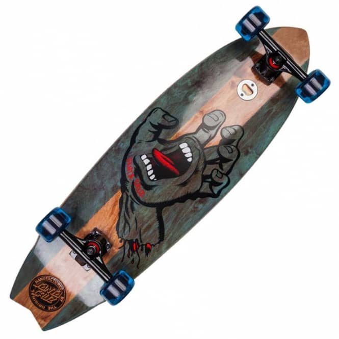 Santa Cruz Skateboards Land Shark Stained Hand LG Cruiser Skateboard 9.75