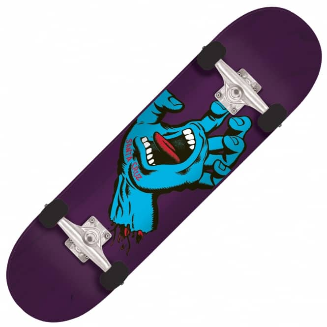 Santa Cruz Skateboards Minimal Hand Purple Complete Skateboard 7.5