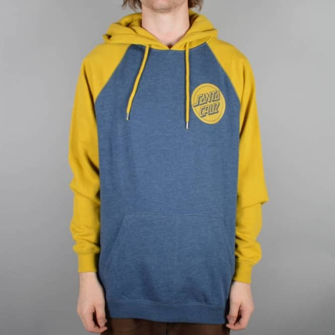 Santa Cruz Skateboards Reefer Pullover Hoodie - Bamboo/Denim Heather